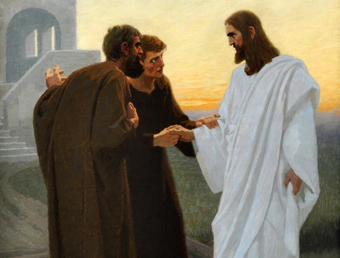 """Gebhard Fugel (1863-1939), """"Jesus on the Road to Emmaus"""""""