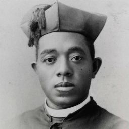 Father Augustine Tolton, also known as Augustus, is pictured in a photo from an undated portrait card. Born into slavery in Missouri, he was ordained a priest April 24, 1886. He served as pastor at St. Joseph Church in Quincy, Ill., and later established St. Monica's Church in Chicago.