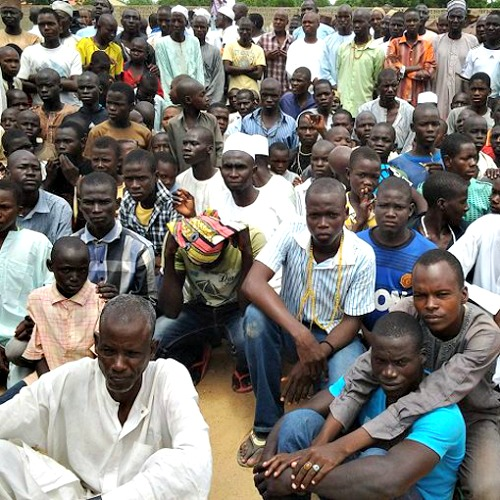 Displaced persons in Maiduguri, who are being cared for by the local Church, in September.