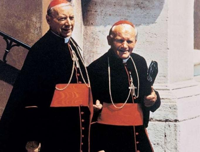 Cardinal Stefan Wyszynski and St. John Paul II, then Cardinal Karol Wojtyla.