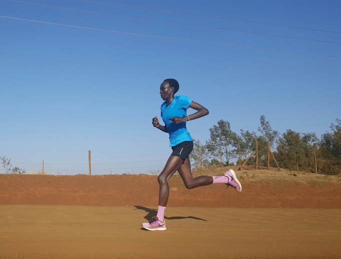 Edna Kiplagat keeps her focus on faith amid training. She attends St. Francis of Assisi in Longmont, Colorado.