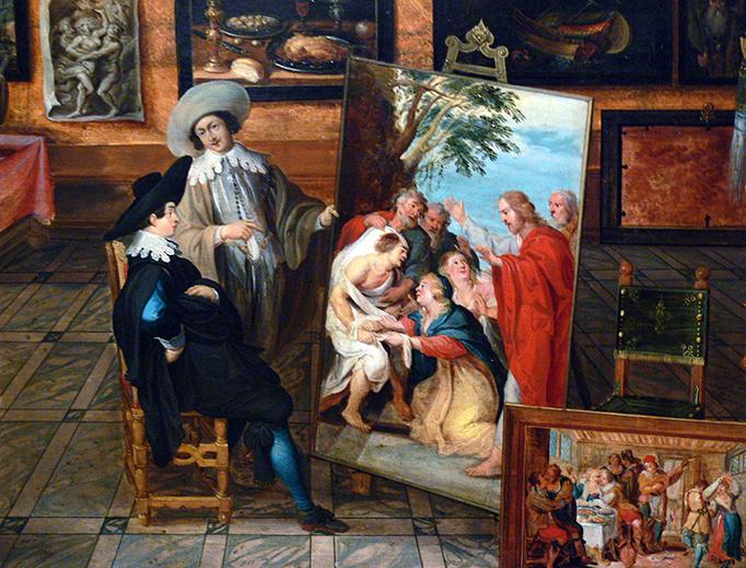 """Hans III Jordaens, """"Kunst- und Raritätenkabinett"""", c. 1630"""