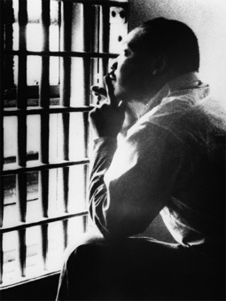 Martin Luther King, Jr in a holding cell in Birmingham, Ala., in October 1967.