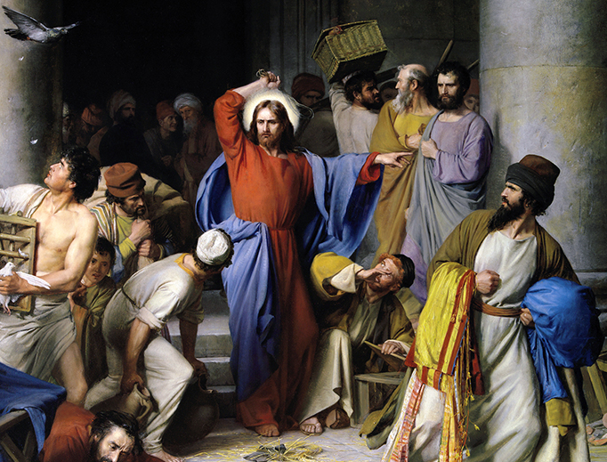 """Carl Bloch (1834-1890), """"The Cleansing of the Temple"""""""
