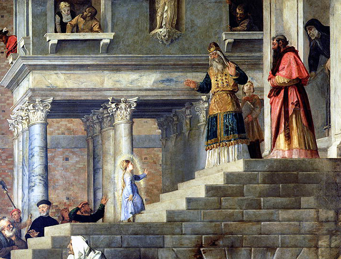 """Titian, """"The Presentation of the Virgin Mary in the Temple of Jerusalem,"""" c. 1536"""