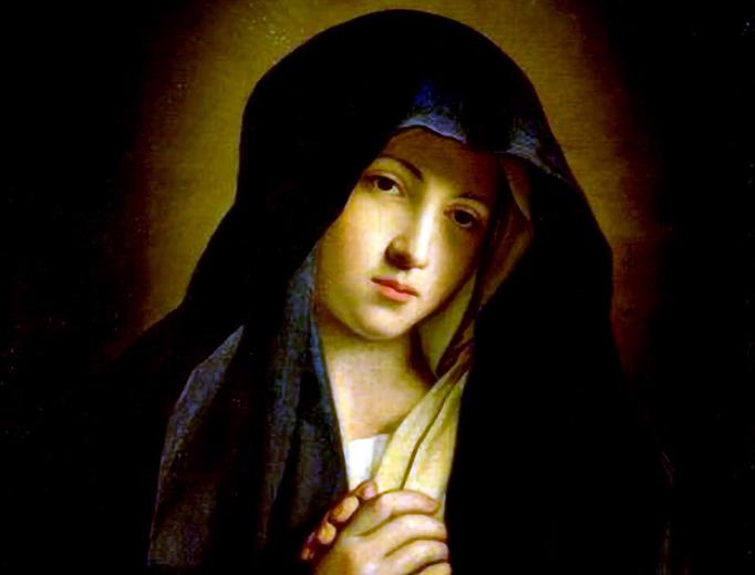 """Giovanni Battista Salvi da Sassoferrato (1609-1685), """"The Madonna in Sorrow"""""""