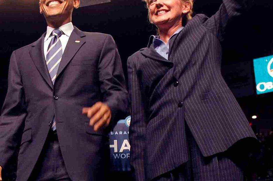 Sen. Barack Obama and Michigan Gov. Jennifer Granholm.