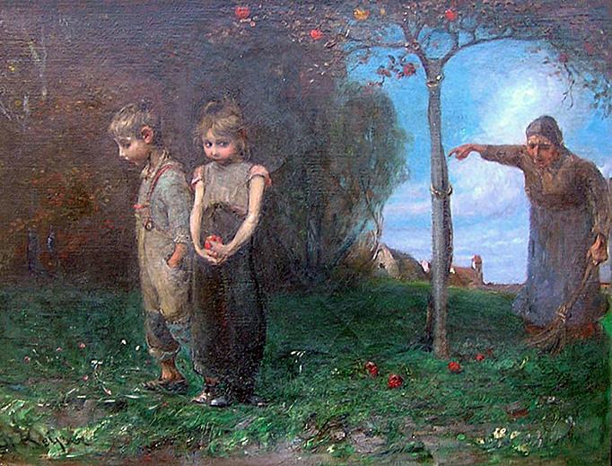 """Emil Keyser (1846-1923), """"Expulsion from the Garden"""""""