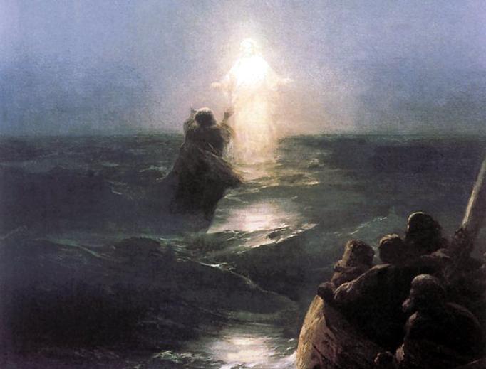 "Ivan Aivazovsky (1817-1900), ""Walking on Water"""