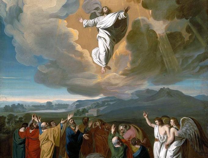 Jesus ascending to heaven by John Singleton Copley, 1775