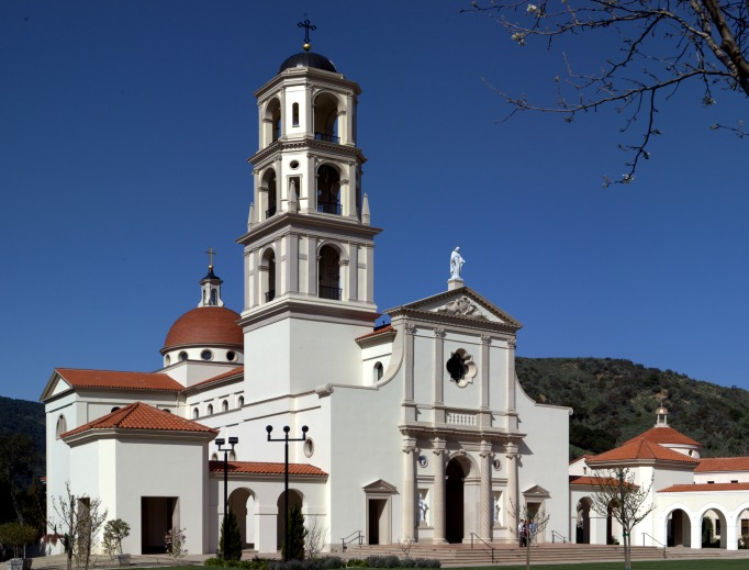 The Chapel of Our Lady of the Most Holy Trinity on the campus of Thomas Aquinas College in Santa Paula, Calif.