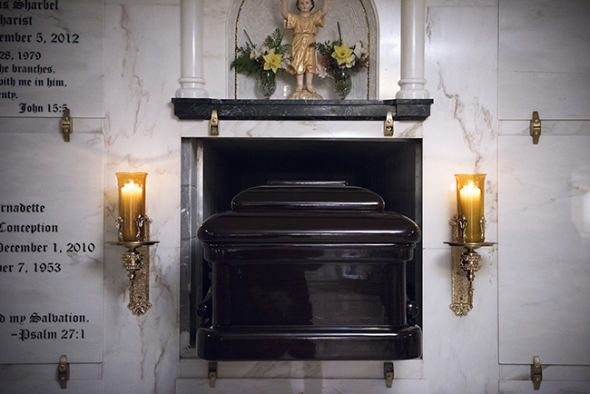 The final resting place of Mother Mary Angelica of the Annunciation (Jeffrey Bruno/EWTN News)