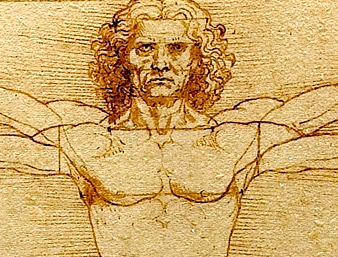 "Leonardo da Vinci, ""The Vitruvian Man"" (detail), c. 1492"
