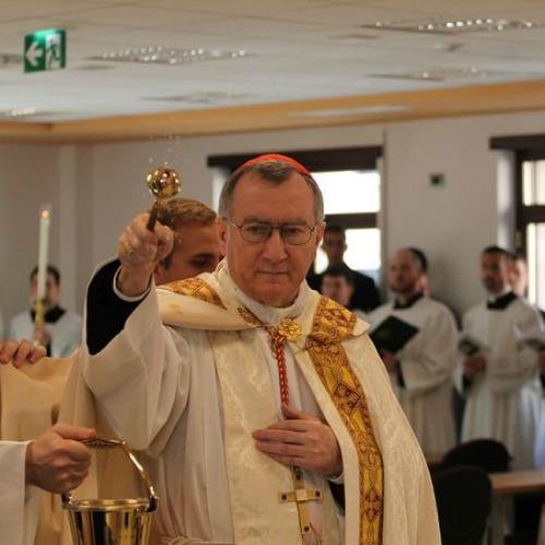 Cardinal Pietro Parolin, Vatican secretary of state, at the North American College on Jan. 6.