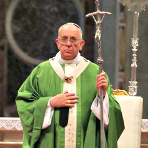 Pope Francis celebrates the opening Mass of the 2014 Extraordinary Synod of Bishops on the Family in St. Peter's Basilica.