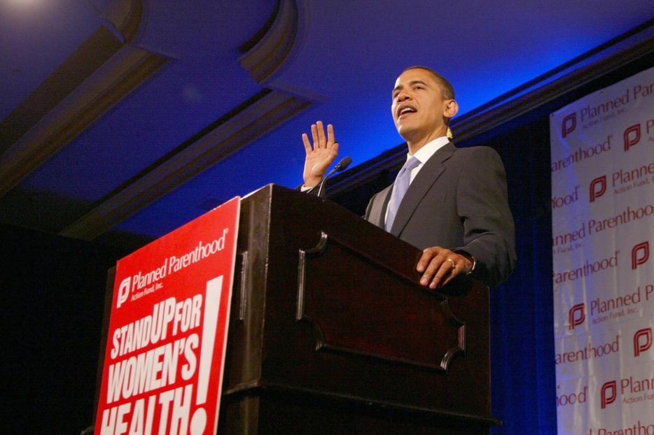 Barack Obama at Planned Parenthood conference.