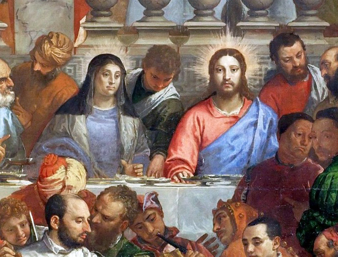 """Paulo Veronese, """"The Wedding at Cana"""" (detail), c. 1563"""