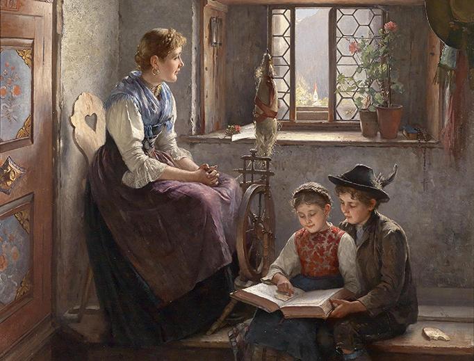 """Friedrich Prölß, """"In Gedanken"""", 1894"""