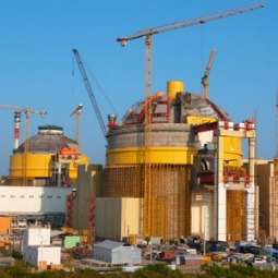 The Koodankulam nuclear power plant, under construction.