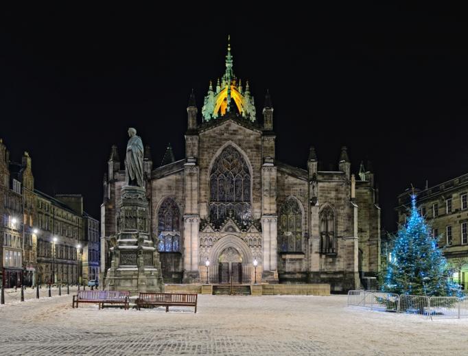 St Giles Cathedral (the High Kirk), Edinburgh, Scotland.