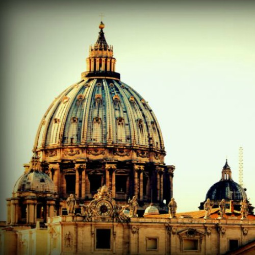 View of St. Peter's Basilica from the Pontifical Urbanian University