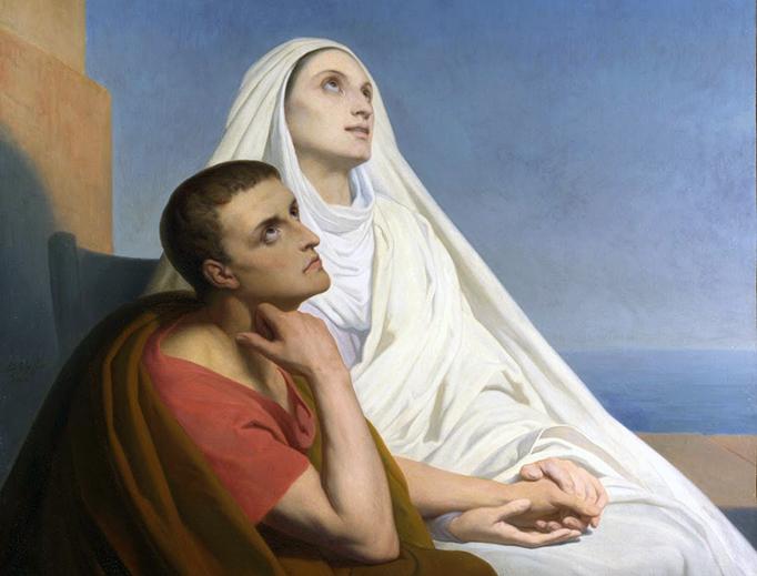 "Ary Scheffer, ""Saint Augustine and His Mother Saint Monica"", 1846"