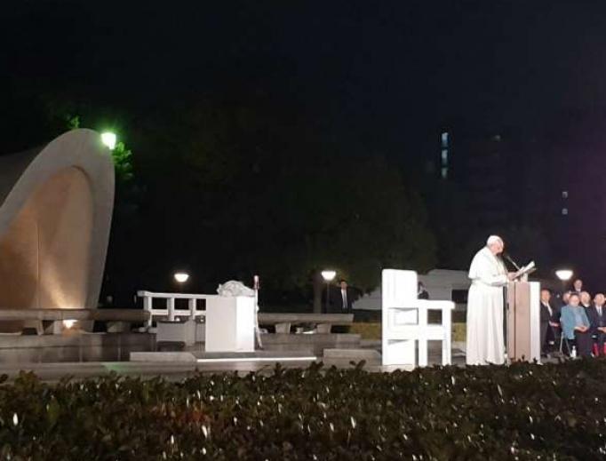 Pope Francis visits Hiroshima.