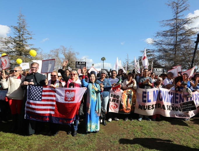 A large crowd of pro-lifers turned out Jan. 21 in Los Angeles.
