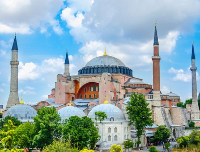 The Hagia Sofia in Istanbul.