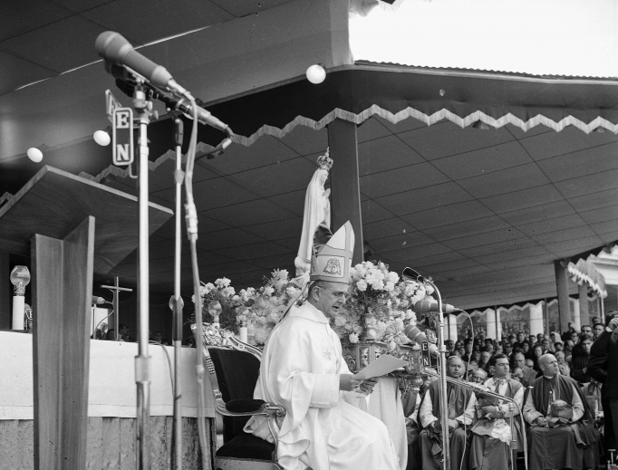 Pope Paul VI visits the Fatima Shrine in Portugal on May 13, 1967.