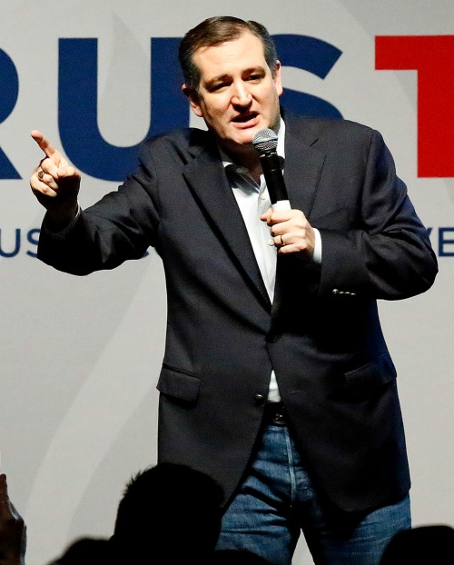 Republican presidential candidate Ted Cruz speaks at a Feb. 29 campaign rally in Dallas.