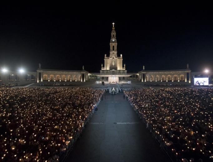 Candelight procession in Fatima, Portugal.