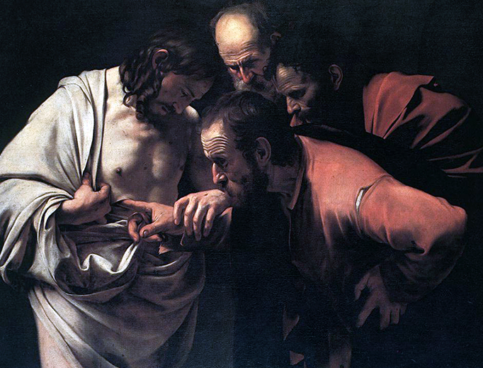 "Caravaggio, ""The Incredulity of Saint Thomas,"" 1601"