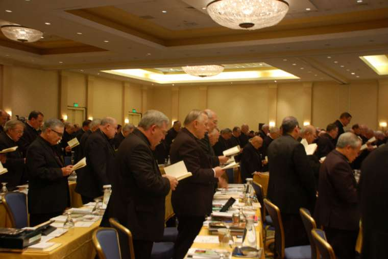Bishops from across the United States take part in the USCCB's Fall General Assembly in Baltimore in 2013.