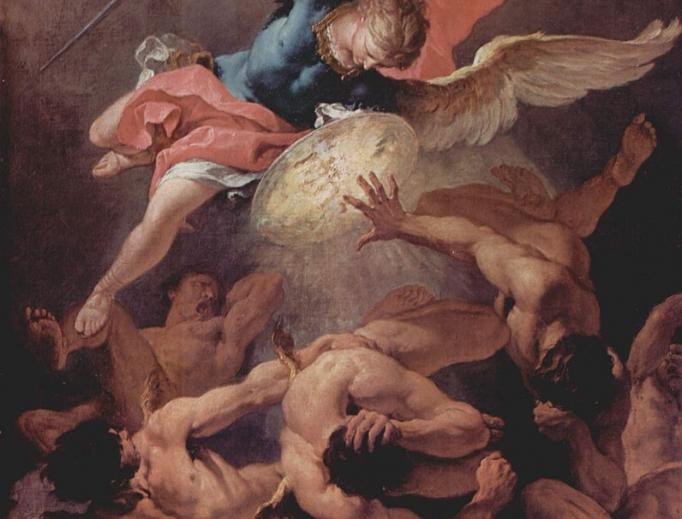 Sebastiano Ricci St. Michael Fights Rebel Angels, c. 1720