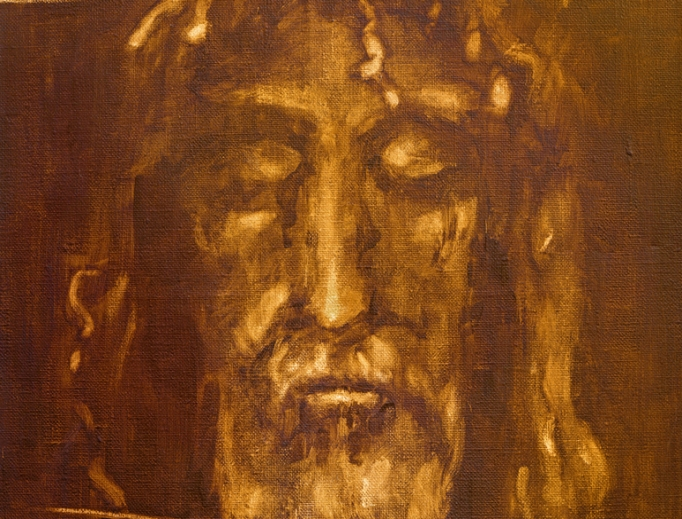Above, this painting of Jesus Christ from the Shroud of Turin, by an unknown artist of the 20th century, is housed in the Church of San Giuseppe in Turin, Italy. Inset: shroud researcher Tristan Casabianca.
