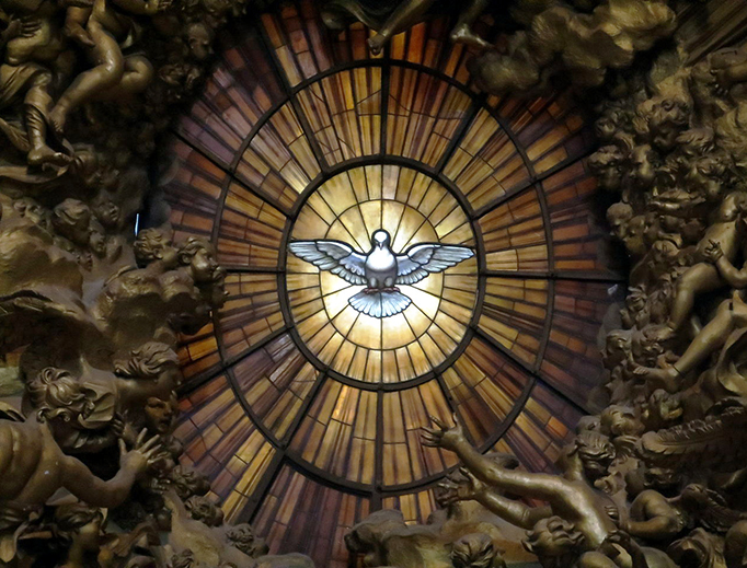 The Dove Window at St. Peter's Basilica