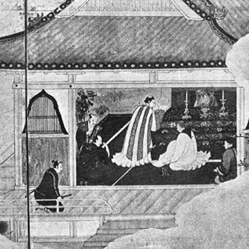A 16th- to 17th-century depiction of a Mass offered in Japan.