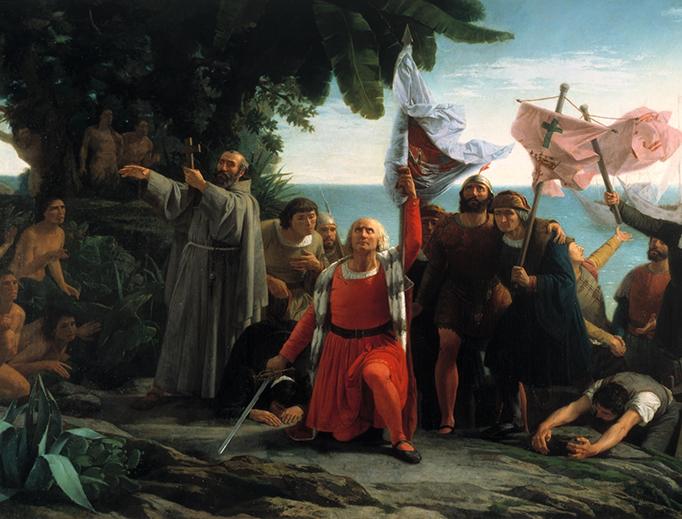 "Dióscoro Puebla, ""The Landing of Christopher Columbus,"" 1862"