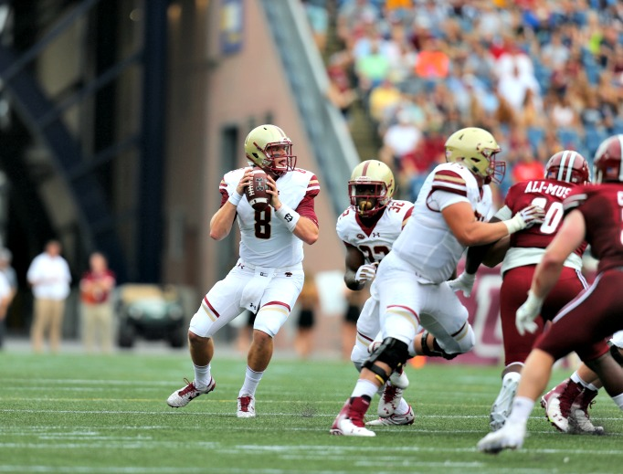 Patrick Towles of in action against the University of Massachusetts.
