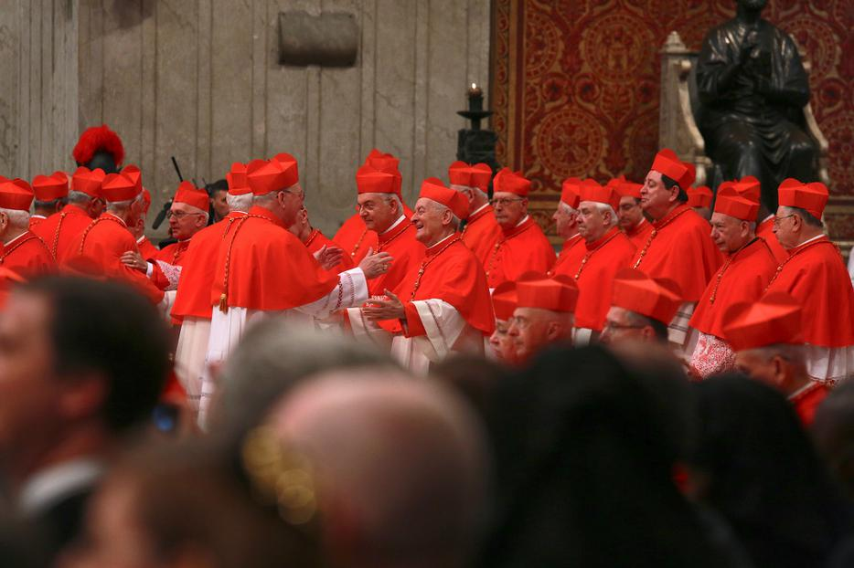 Pope Francis elevates 17 new cardinals during the November 19, 2016 consistory in St. Peter's Basilica.