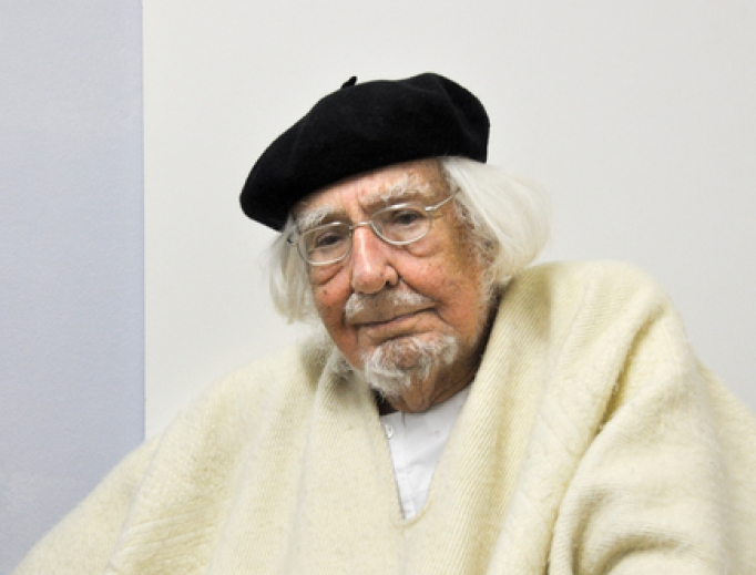 Father Ernesto Cardenal in Germany, 2015.