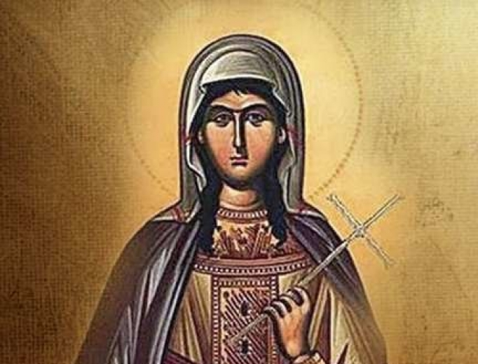 Icon image of St. Olympias the deaconess