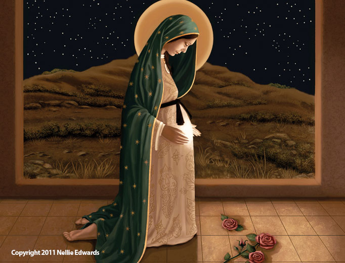 'MOTHER OF LIFE.' Our Lady of Guadalupe is a popular image by artist Nellie Edwards.
