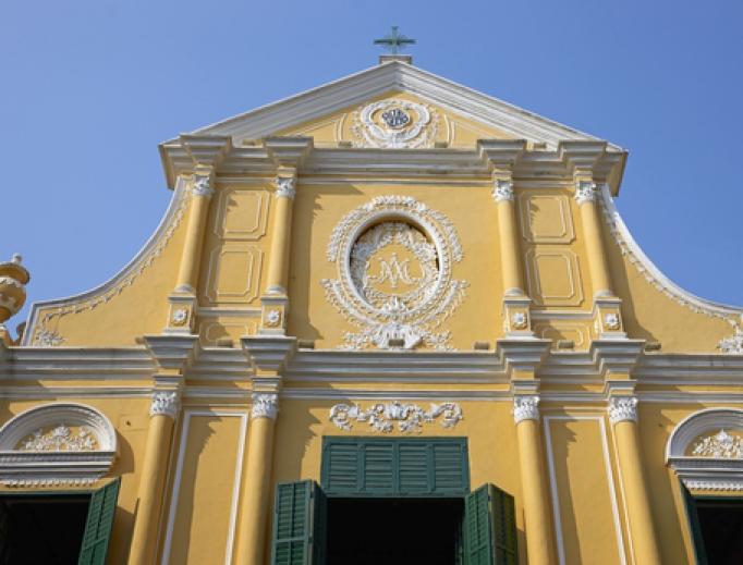 Shuttered St. Dominic's Church in Macau, China.