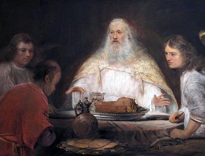"Aert de Gelder (1645-1727), ""Abraham and the Angels"""