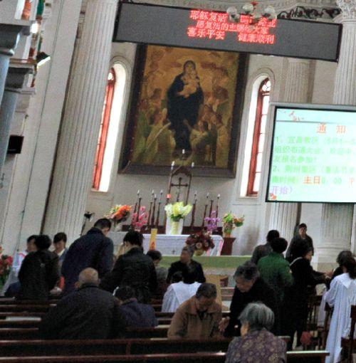 A Catholic Church in Jingzhou, China