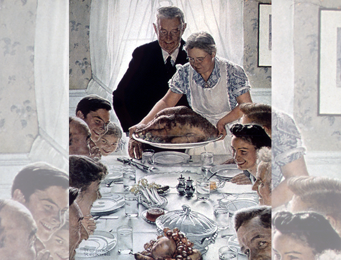 """Norman Rockwell (1894–1978), """"Freedom From Want"""""""