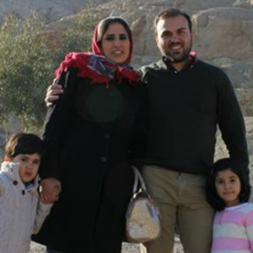 Imprisoned pastor Saeed Abedini with his family.