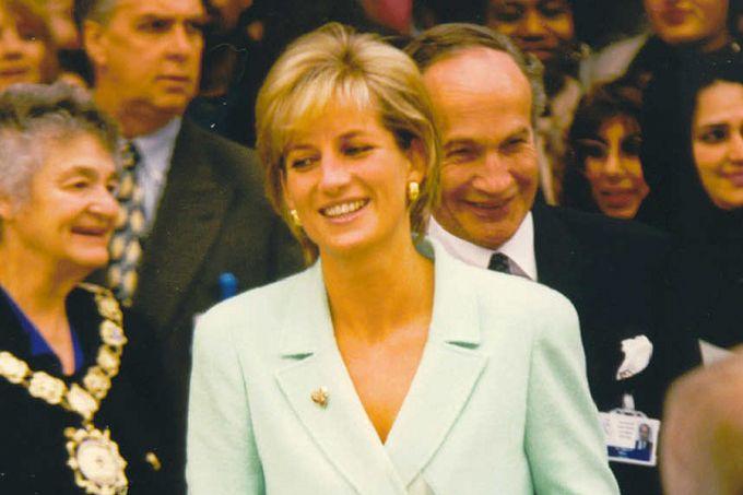 Princess Diana, above; Father Ignatius Spencer, below